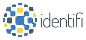 Imagen del logotipo de la aplicación Identifi, compuesto por la palabra Identifi y un conjunto de múltiples cuadraditos de diversos colores que conforman una esfera