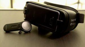 46ecde71c9 Imagen de las gafas de realidad virtual Samsung Gear VR 2017, donde se  aprecia estas