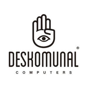 Imagen con el Logotipo Deskomunal Computers, negro con fondo blanco.